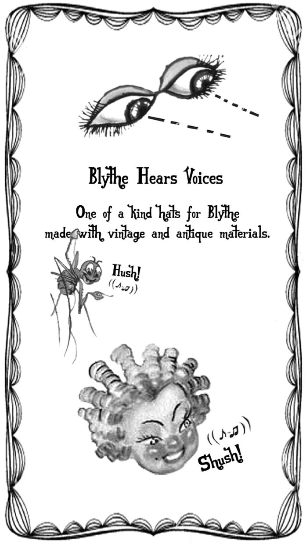 blythe hears voices headpiece prototype aiai chan blythe kenner vintage doll japan